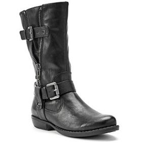 Brynda Mid Calf Moto Boots